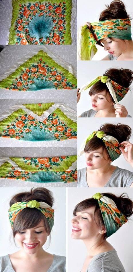 Kopftuch falten und binden Anleitung