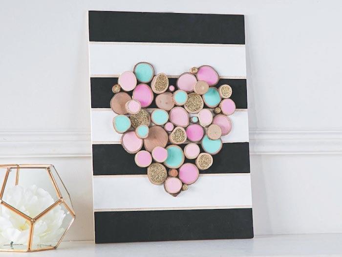 Hochzeitsgeschenke selbstgemacht Wandbild Herz