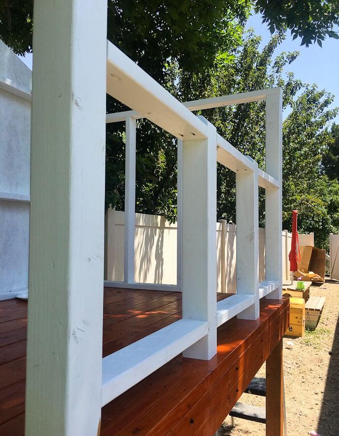 Stelzenhaus Geländer selber machen