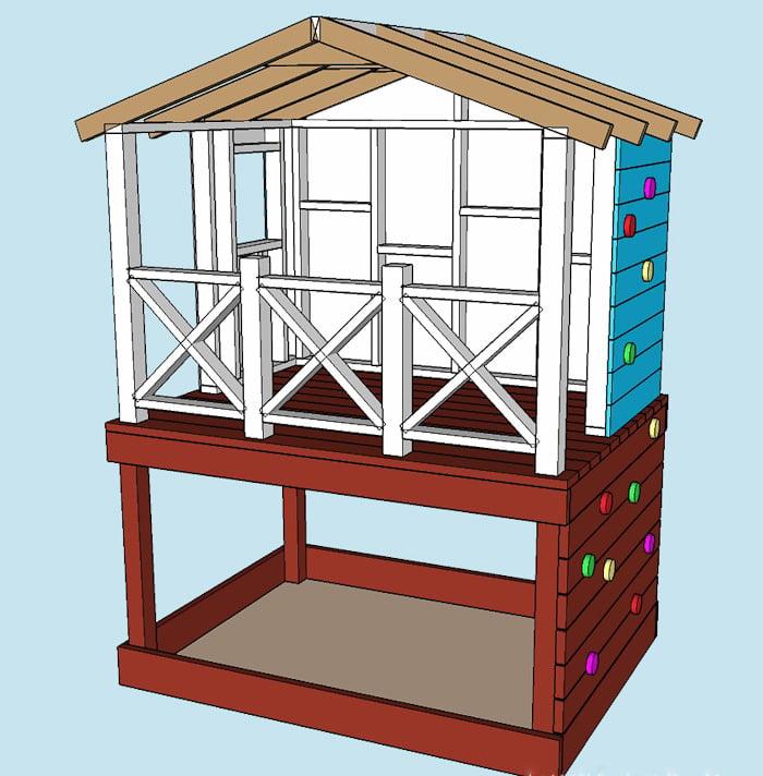 Stelzenhaus selber bauen schematische Zeichnung