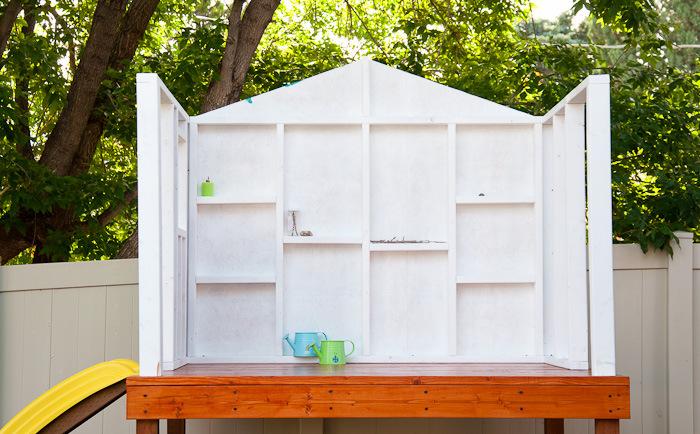 Stelzenhaus mit drei Wänden DIY
