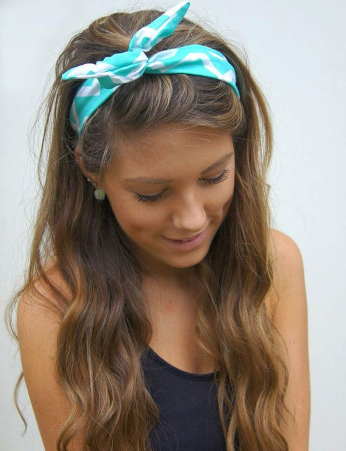 offene Haare Kopftuch Sommer