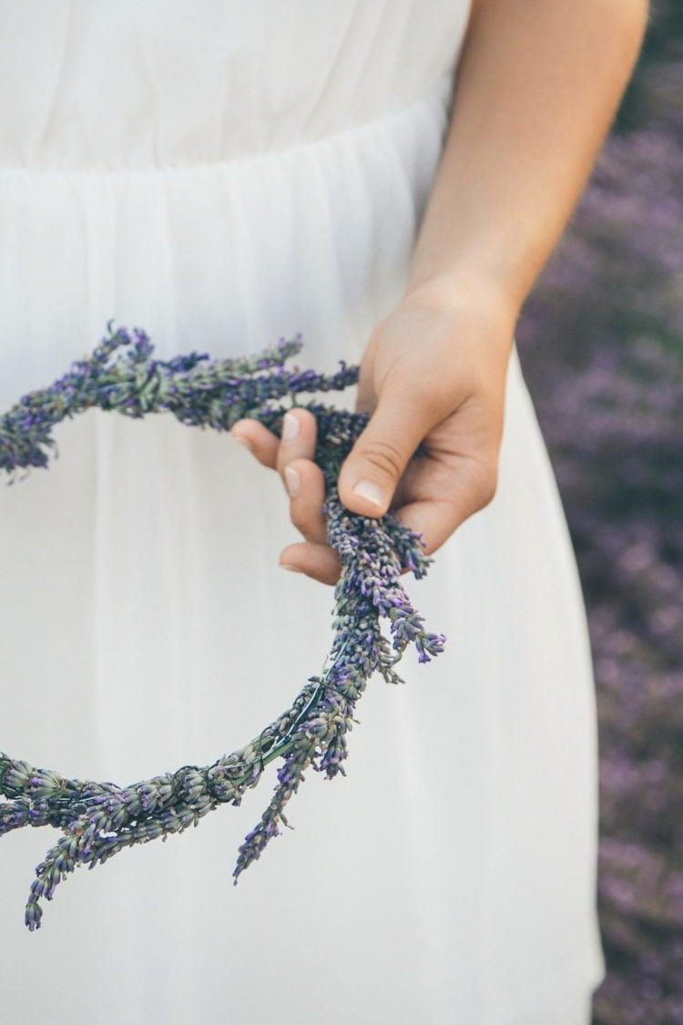 Lavendel Hochzeitsdeko zum Selbermachen