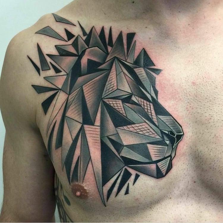 Tattoo modern Mann Design geometrisch
