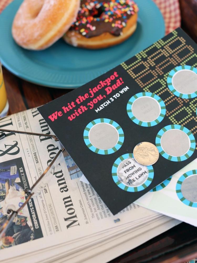 tolle Lotto Karte zum Vatertag DIY