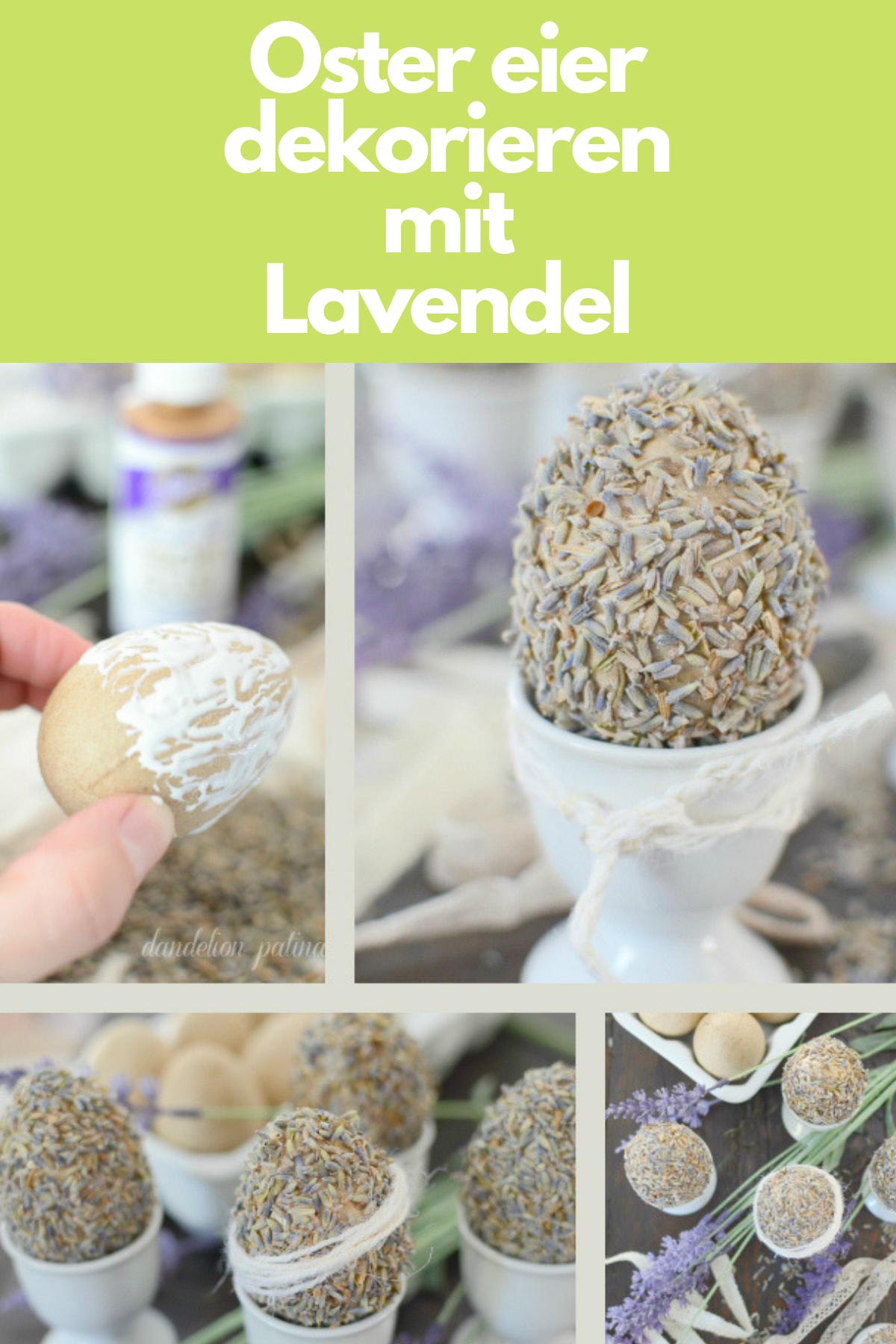 Ostereier dekorieren mi Lavendel