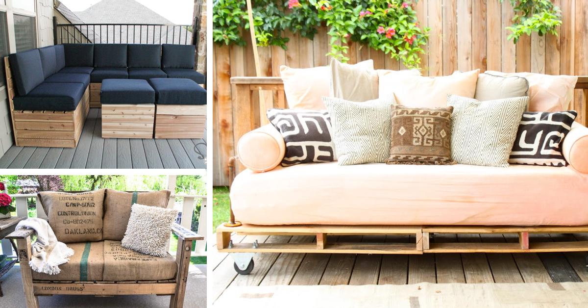 Palettenmöbel für Terrasse: Unterschiedliche Variante