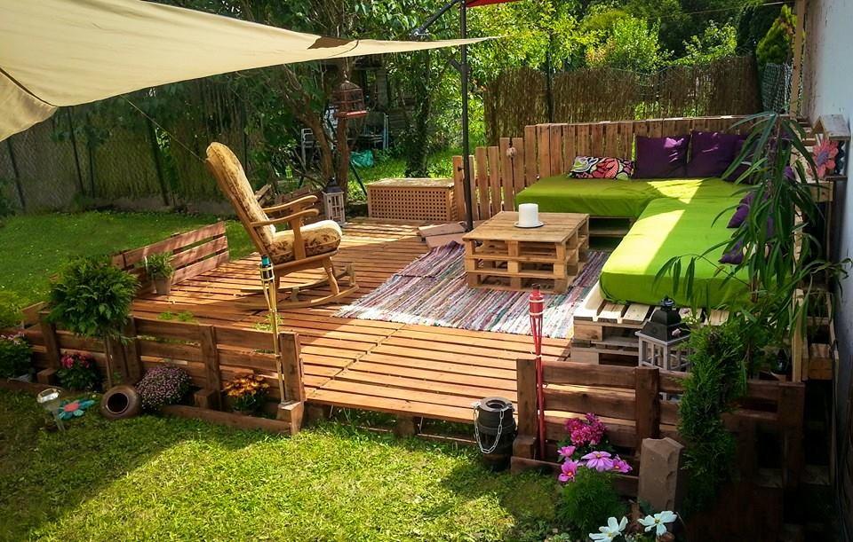 Palettenmöbel Terasse Bauanleitung ist schon kreativ und leicht