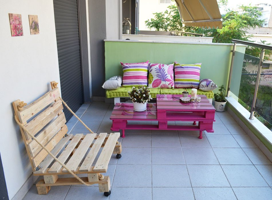 Palettenmöbel für Terrasse ist Ihre Pink Welt