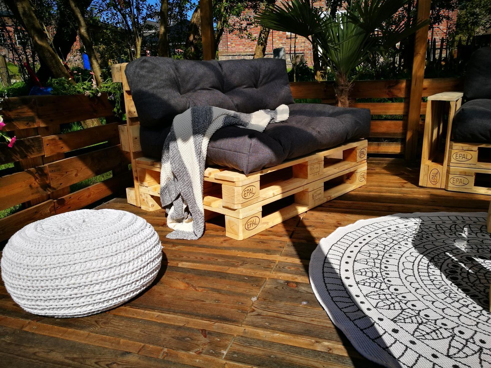 Palettenmöbel für Terrasse können echt stilvoll aussehen