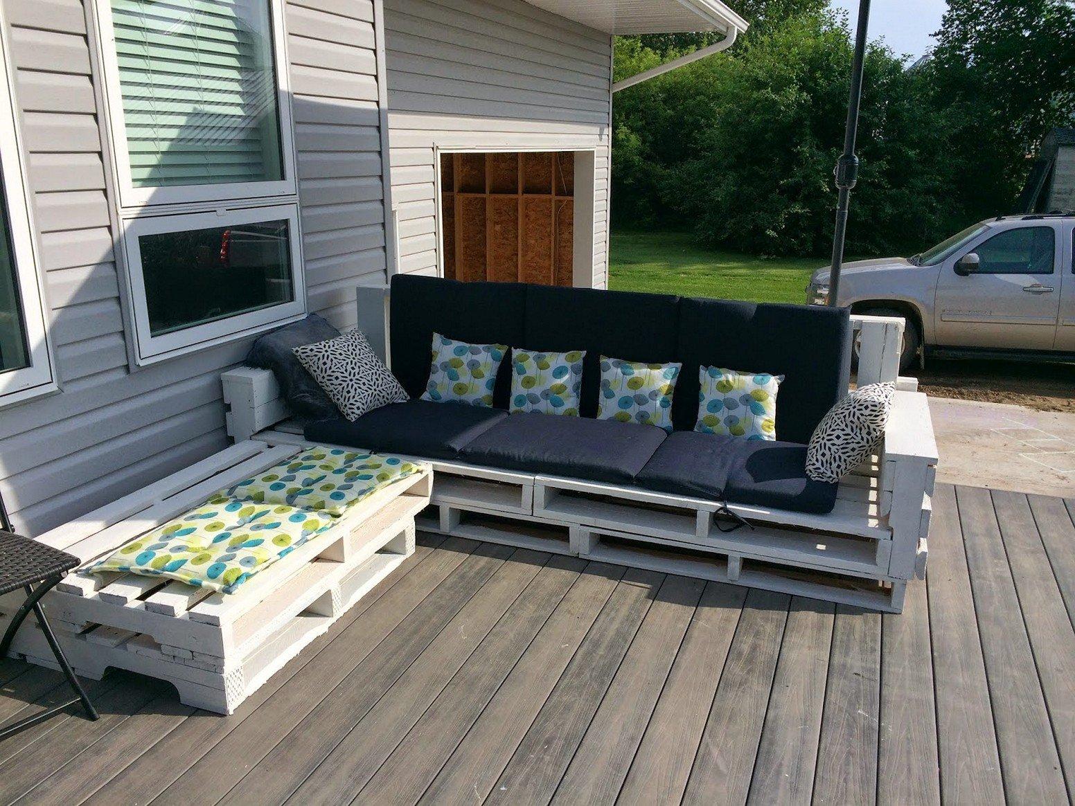 Entweder Palettenmöbel für Terrasse oder für Garten: es ist immer tolle Idee