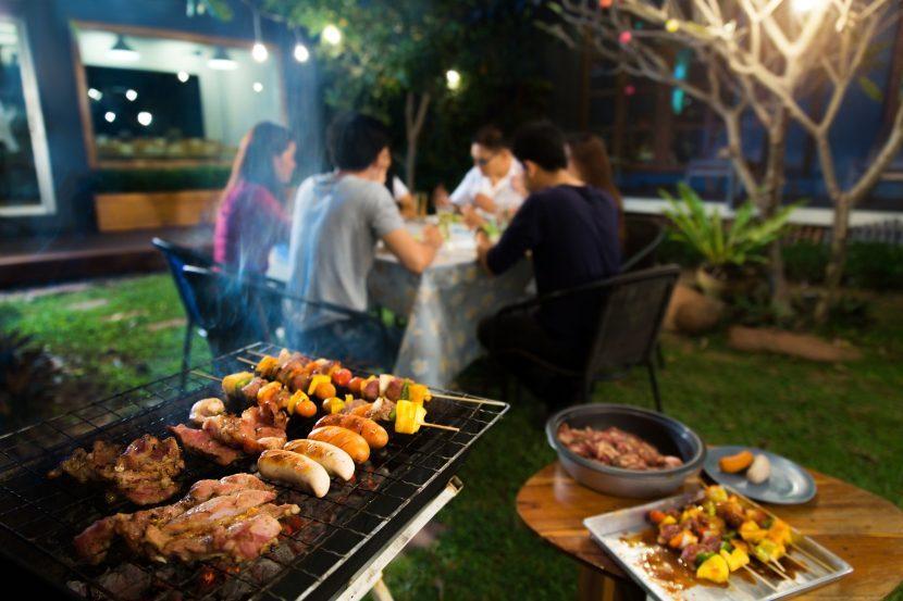 Party gegrilltes Fleisch Garten