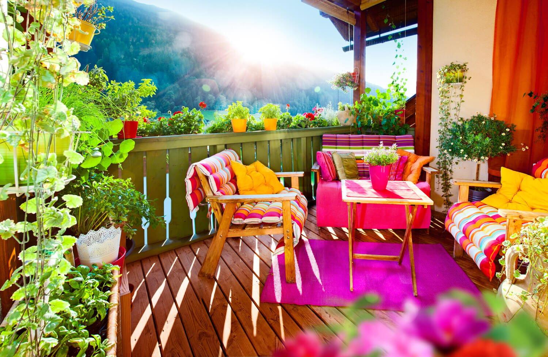 Balkon bepflanzen grüne Oase