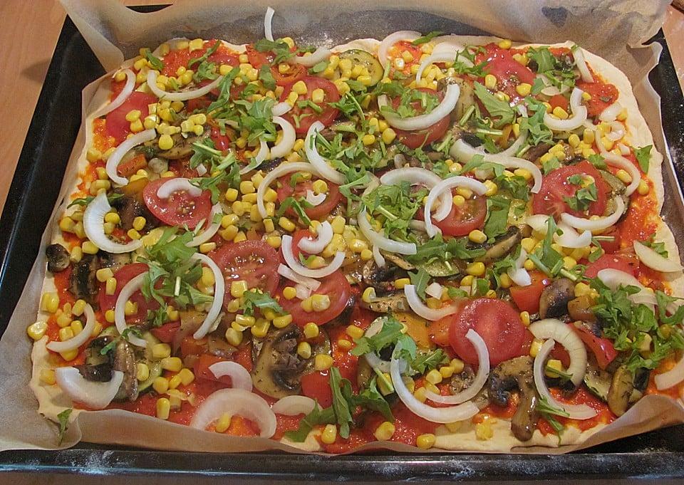 veganes Rezept Gemüsepizza