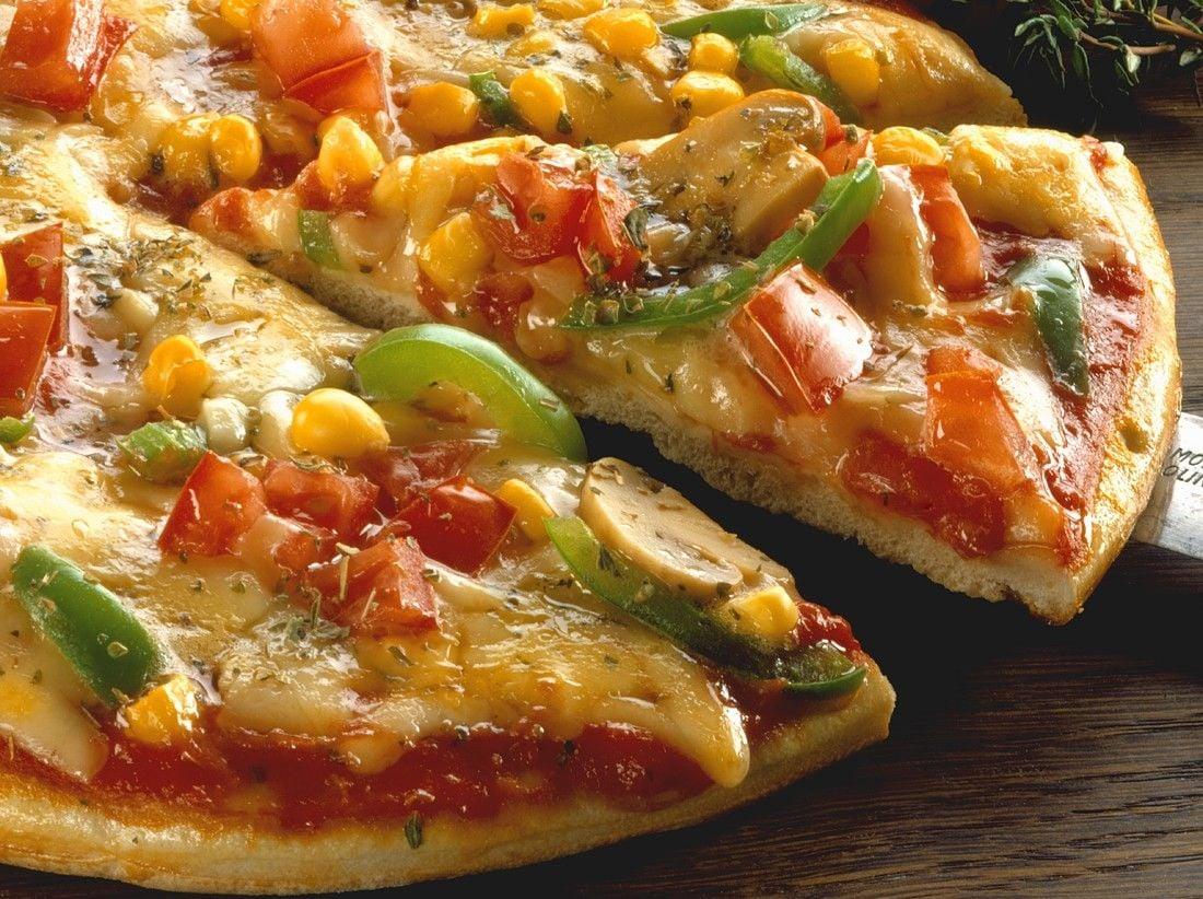 vegane Pizza mit Gemüse Rezept
