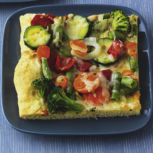 mit buntem Gemüse veganes Rezept