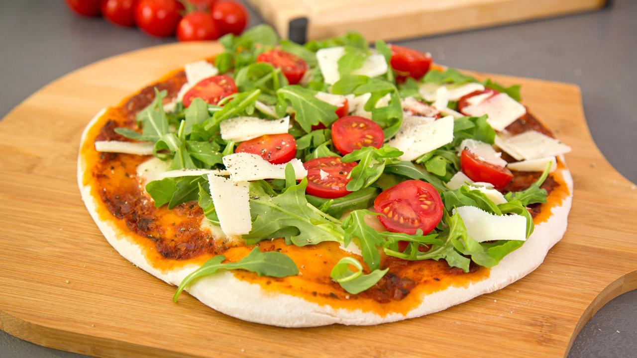 Tomaten Rucola Käse vegan