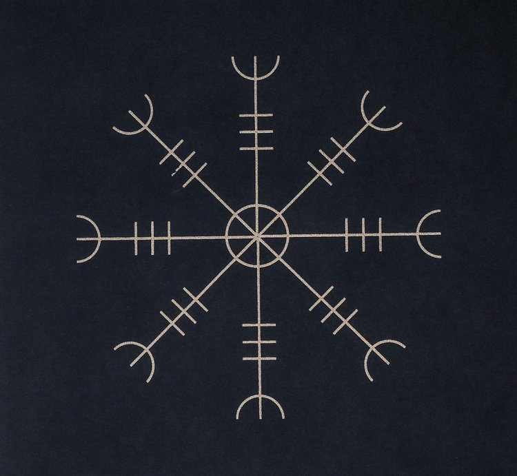 Runen Tattoo Aegishjalmur Symbol