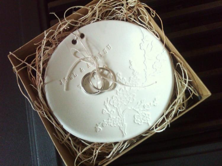 Hochzeitsgeschenke selbstgemacht Fimo Schale