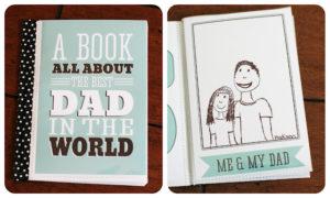 Vatertagsgeschenke basteln mit Kindern personalisiertes Buch