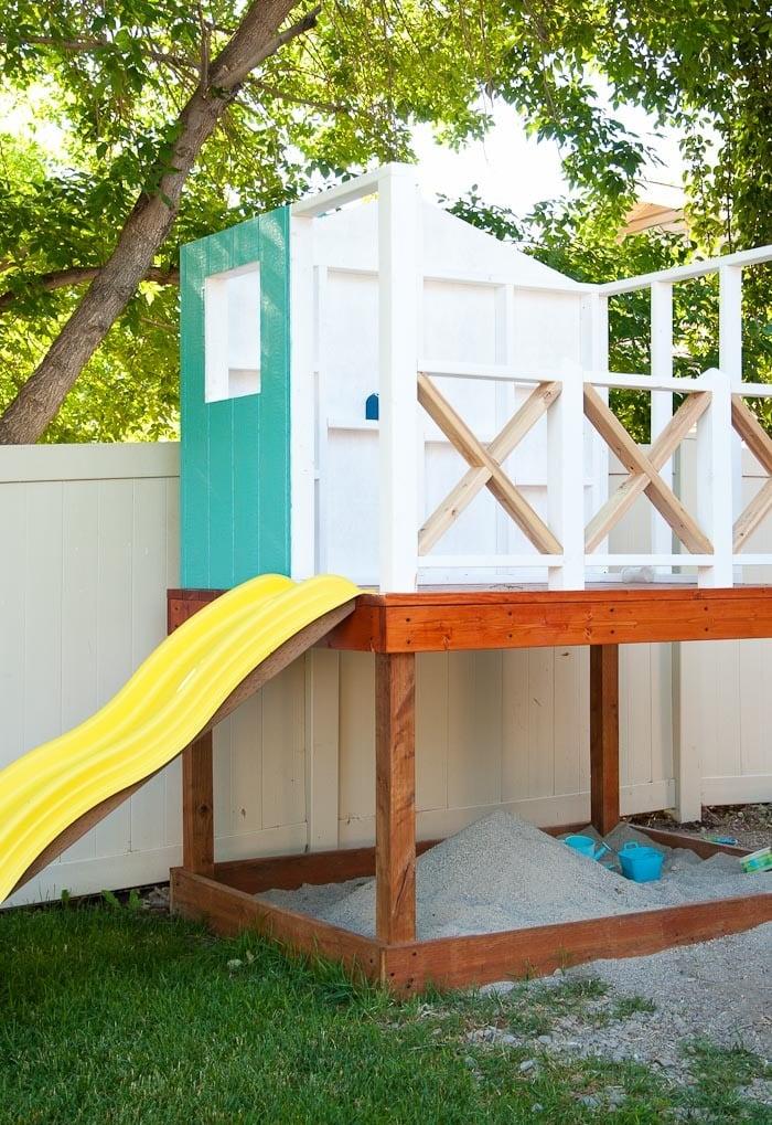 Stelzenhaus selber bauen im Garten