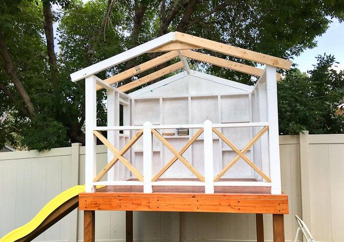 Stelzenhaus bauen Dach