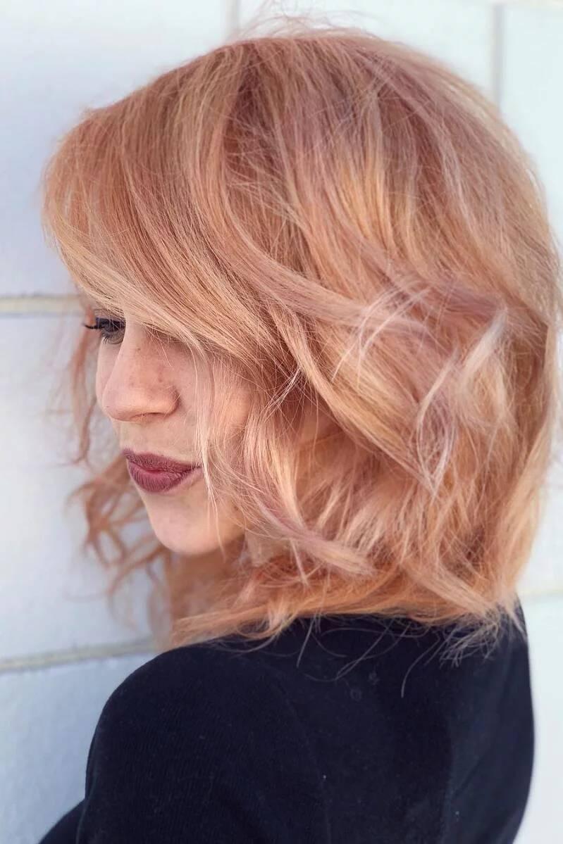 Strawberry Blond - Haarfarbe Ideen für kurze Haare