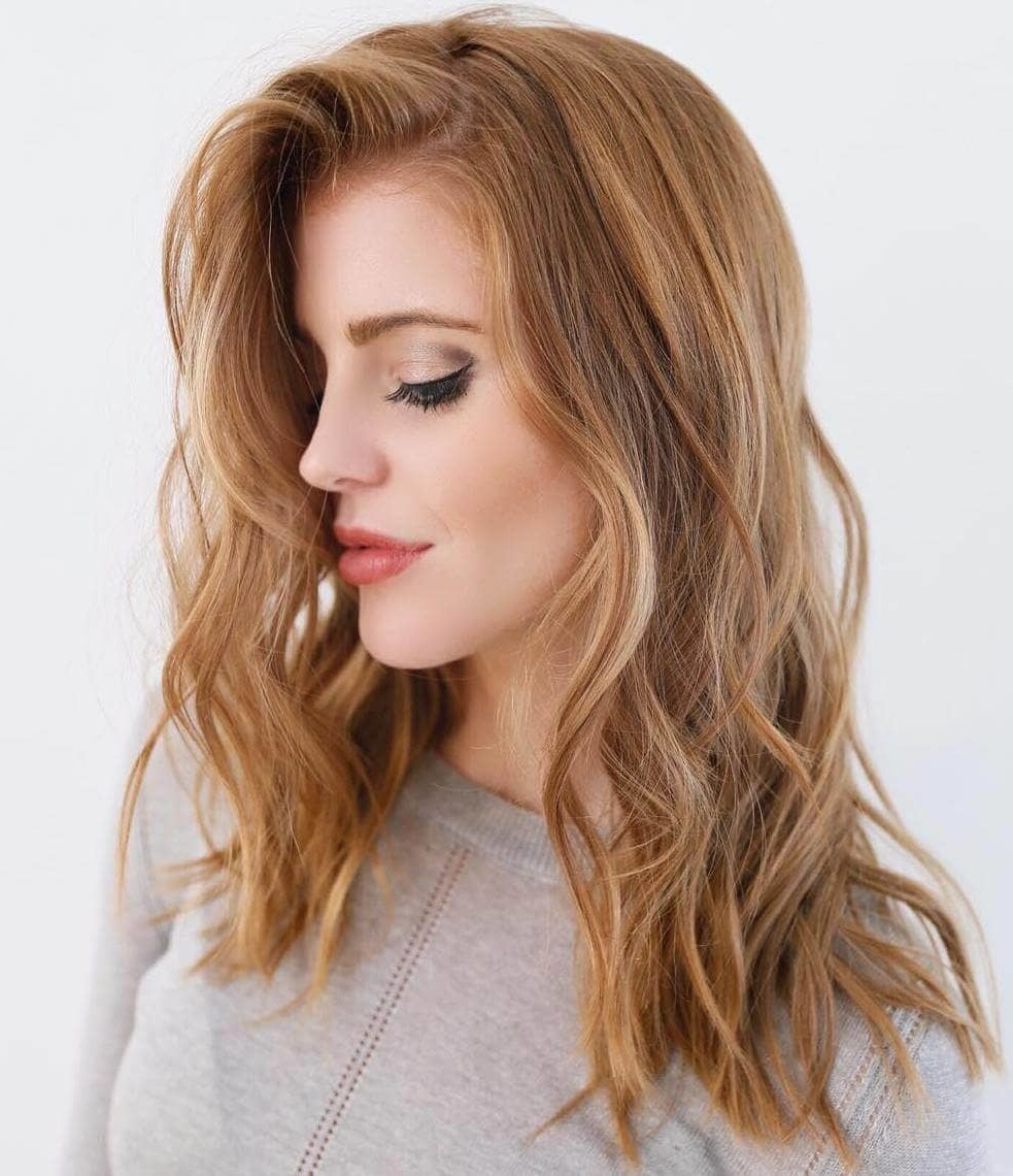 Strawberry Blond Haarfarbe Ideen - Ombré Braun