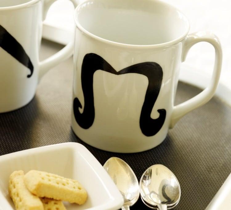 Kaffeetasse bemalen für den besten Vater