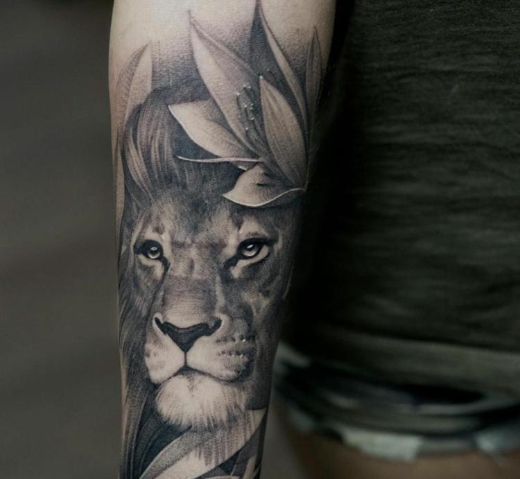Tattoo 3D Unterarm originelles Design