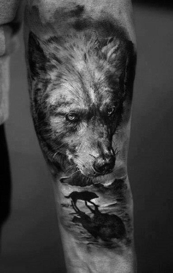 Wolf Tätowierung 3D herrlicher Look