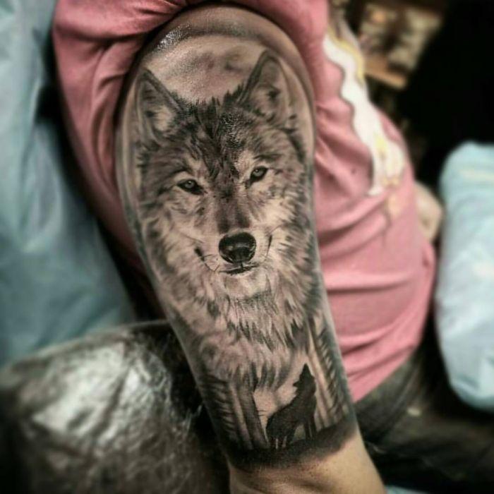 Tattoo Mann Oberart tolles Design