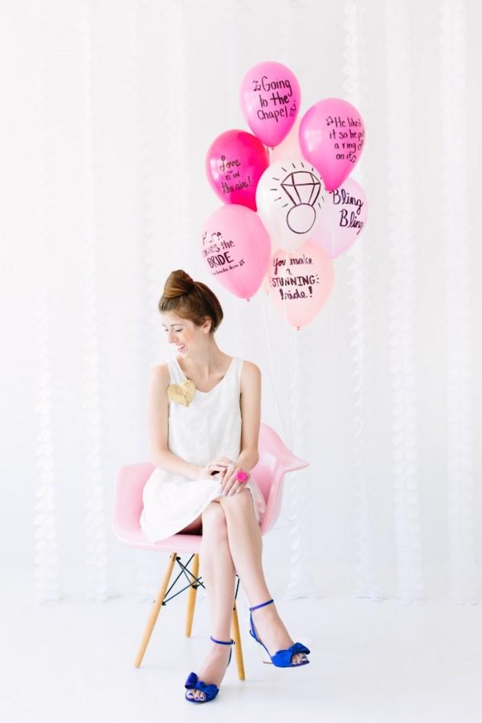 Hochzeitsgeschenke selbstgemacht Luftballons für die Braut