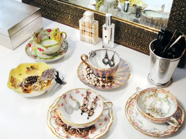Schmuckaufbewahrung Vintage Teetassen