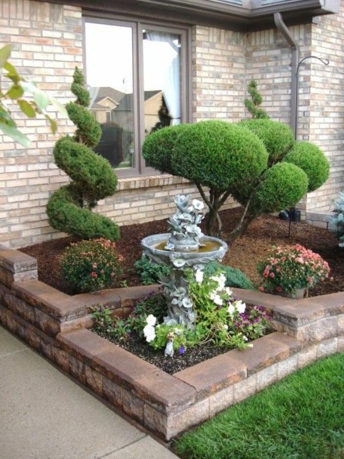Vorgartengestaltung kleine Fläche eindrucksvoll
