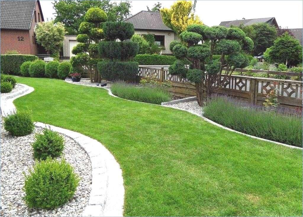 Vorgartengestaltung Bäume große Rasenfläche