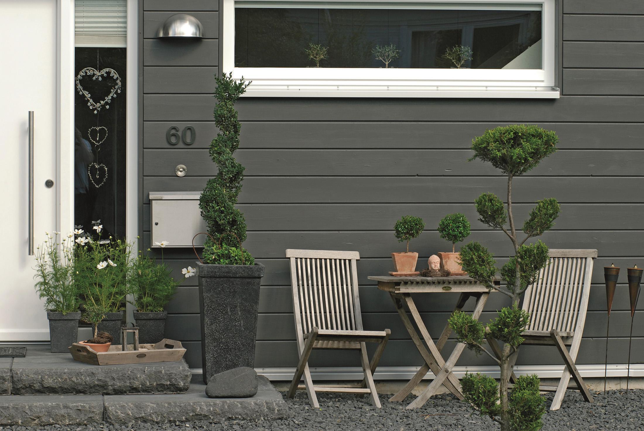 Vorgartengestaltung mit der Hausfassade abstimmen