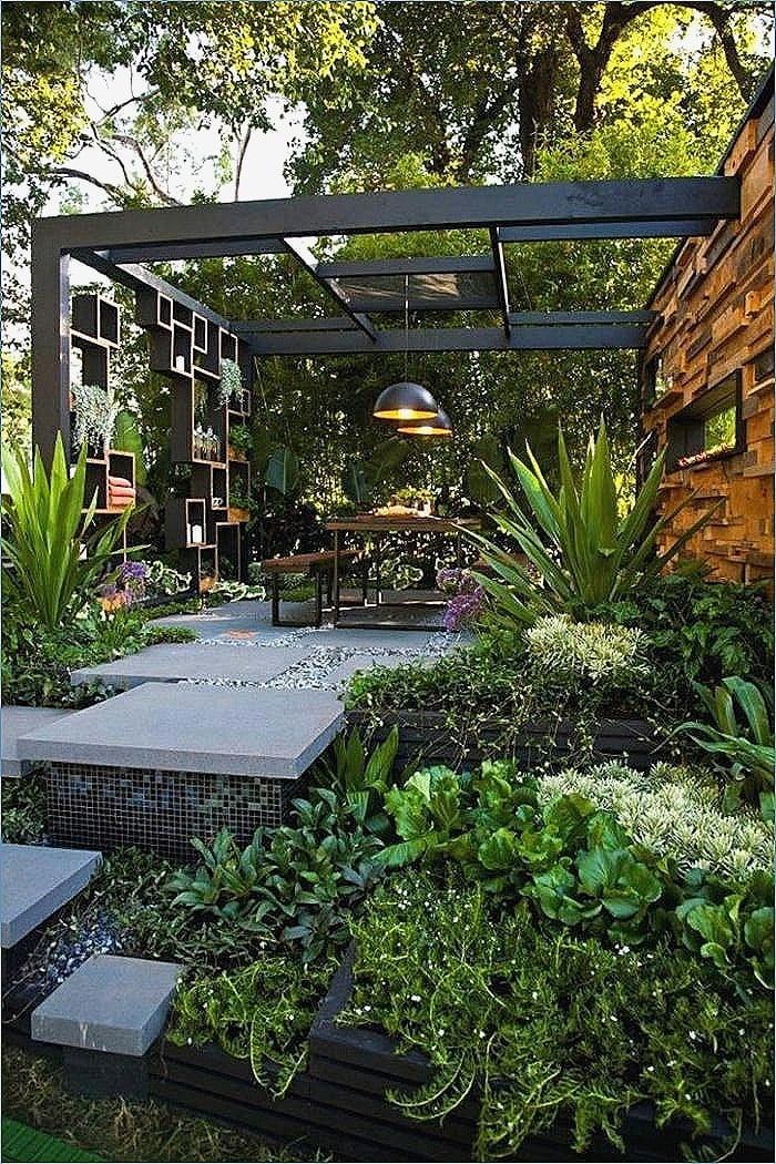 Vorgartengestaltung Terrasse grüne Oase