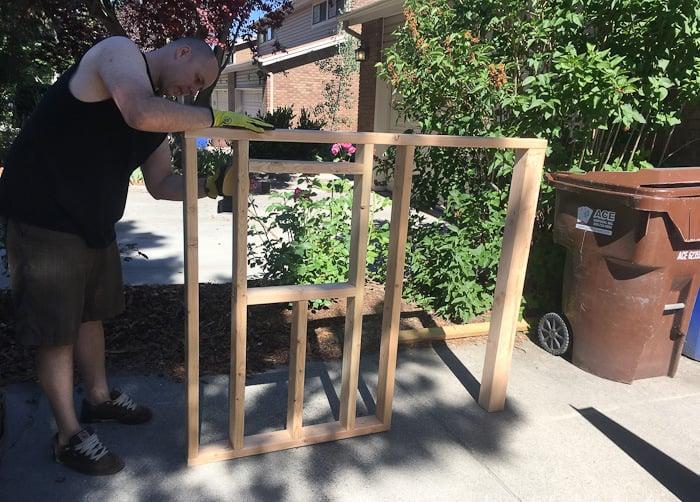 Stelzenhaus DIY Wändegerüst bauen