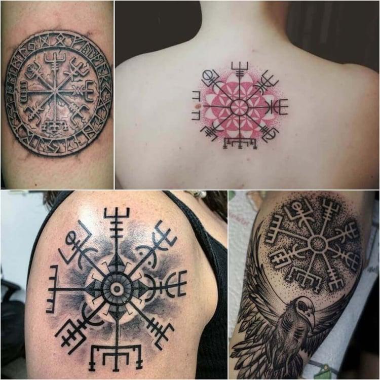 Tattoo Wikinger KOmpass Designideen