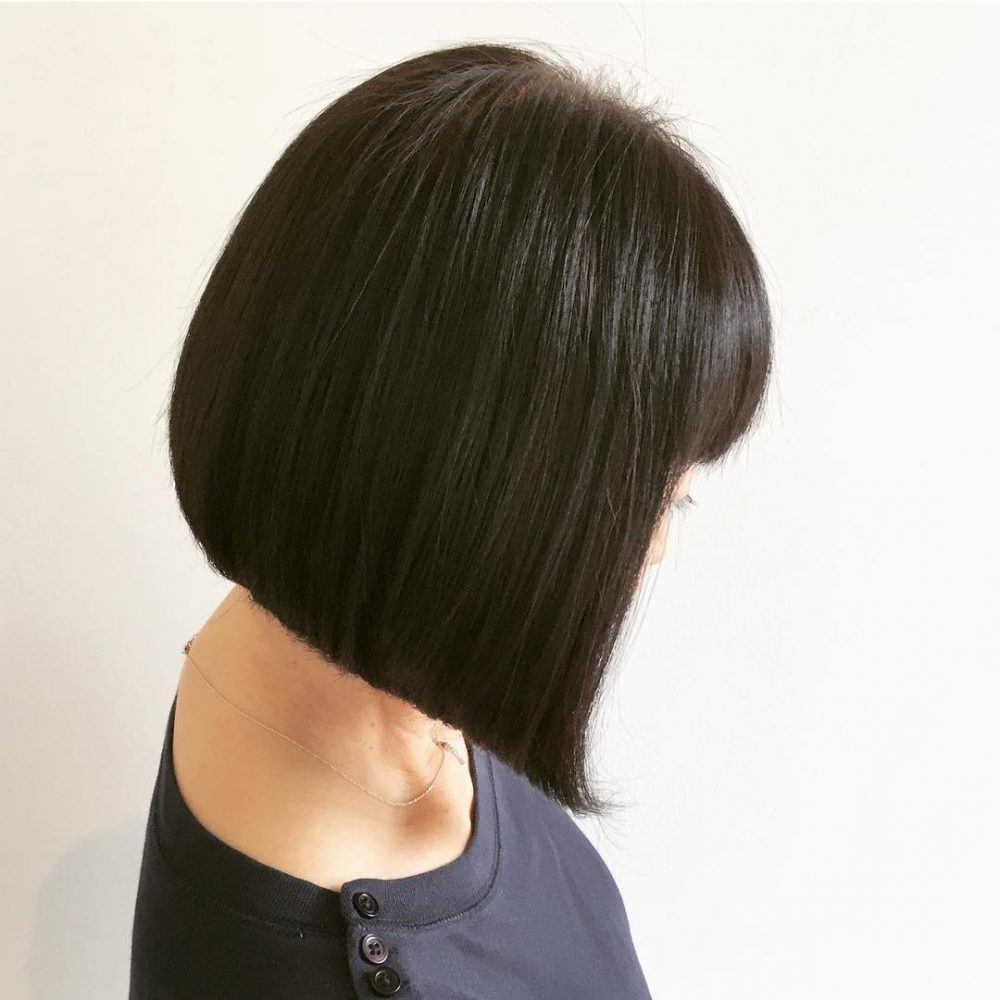 Kurzhaarfrisuren 2019 Damen Bob glatte Haare A-Linie Schnitt
