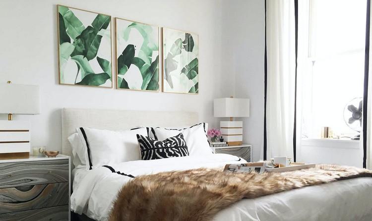 Schlafzimmer Wände streichen weiß Bilder