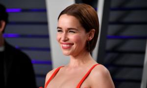 Kurzhaarfrisuren 2019 Damen Blunt Bob Emilia Clarke