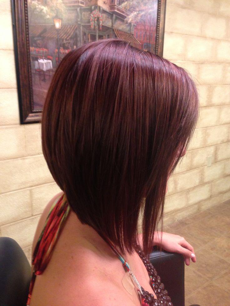Kurzhaarfrisuren 2019 Damen Bob A-Linie Haarfaarbe Rot