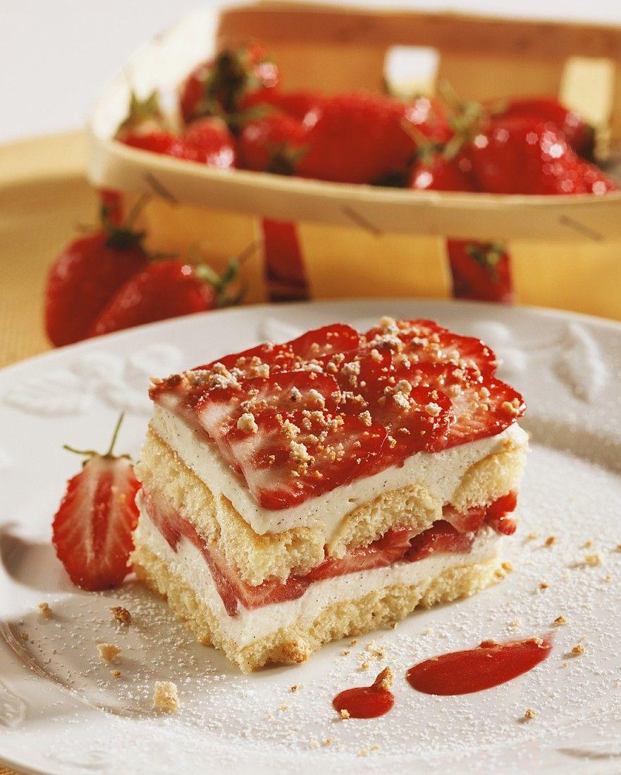 Erdbeer-Tiramisu mit Pistazien schnelles Rezept