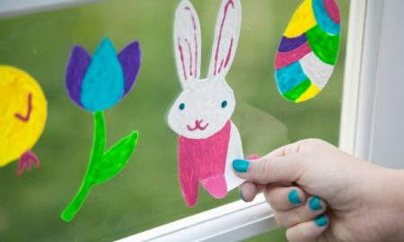 tolle Fensterbilder gestalten Ostern