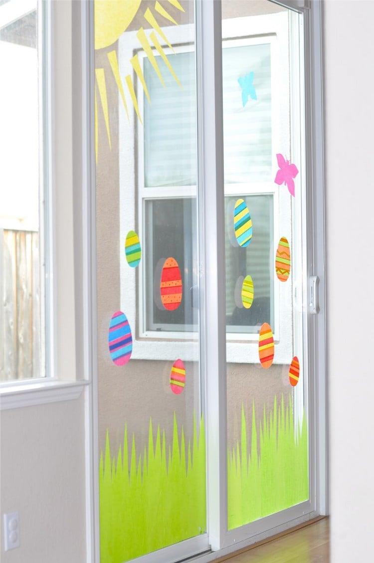Fenster dekorieren Ostern