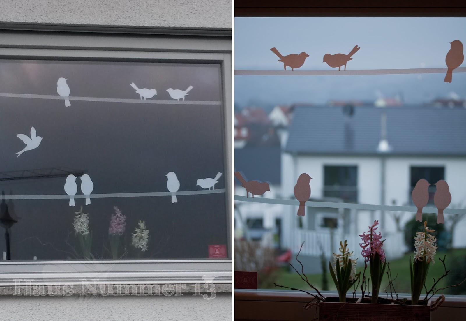 originelle Fensterbilder gestalten Frühling