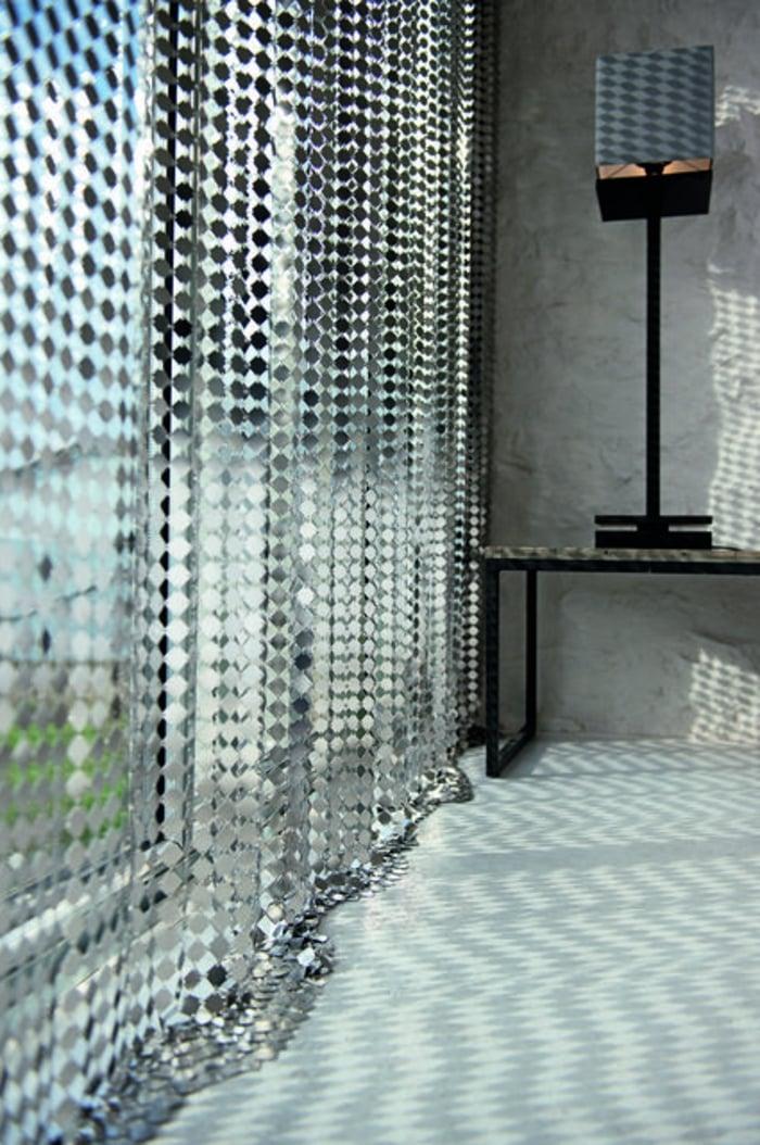 Gardinen aus Metall transparent moderner Look