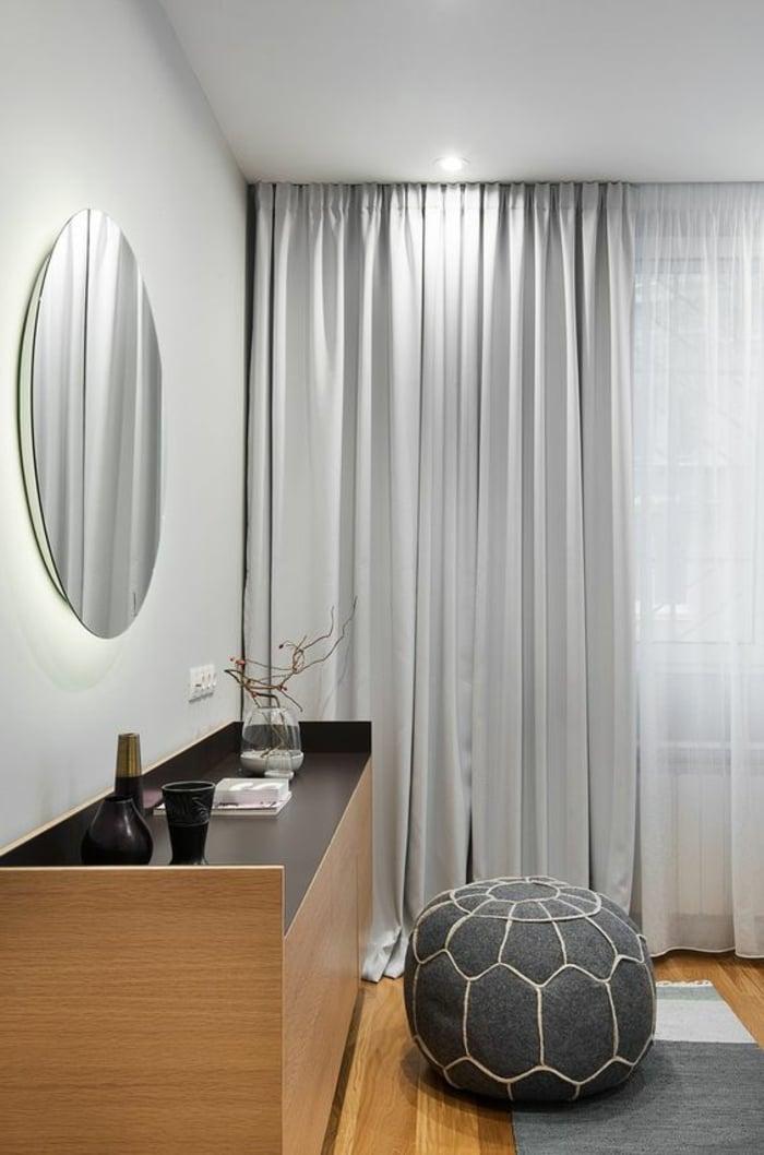 moderne Gardinen grau elegant